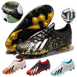 Wholesale Men Football Boots Outdoor High Top Sneakers Man Kids Soccer Shoes Cleats Athletic Sport AG Fustal Chaussures Hombre Turf Shoes 210619