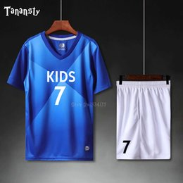 Wholesale soccer new clothes resale online - Football Jersey Kids Personalized Football Uniform Soccer Jerseys Set Custom Soccer Uniform Survetement NEW Sport Clothes