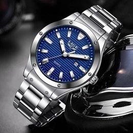 Wristwatches Watch Lige Dla Man 2021 Moda Męskie Zegarki Top Wojskowy Big Dial Zegar Wodoodporny Stalowy Pasek Sportowy Kwarcowy