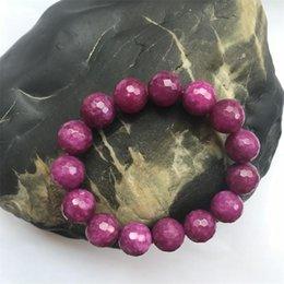 """Nouveau à facettes 2x4MM rouge rubis Cocarde Gemstone Bracelet 7.5/"""" 925 Fermoir Argent"""