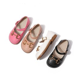 Wholesale Double Buckle Girls Shoes Fashion Design Oxford Soft Flat Moccasins Loafers Baby Toddler Girl Shoe Size 21-31