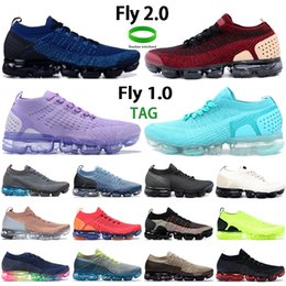 Wholesale black woman jackets resale online - Fashion fly mens running shoes gym blue jacket pack team red triple black white oxygen purple men women sneakers