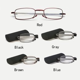 folding sunglasses case 2021 - Folding Portable Ultralight Reading Glasses Men Women Slim Mini 1.5 2.0 2.5 3.0 Presbyopia Reader Hyperopia Eyewear With Case Sunglasses