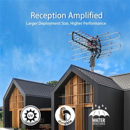 Toptan satış TA-851 Artı 360 ° Rotasyon Dijital HDTV Anten UHF / VHF 45-860MHz 22-38dB Açık TV Anten Kutusu Dijital TV Anteni