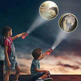 24 Muster Taschenlampe Kinder Spielzeug Cartoon Dinosaurier Projektor Lampe Früher Aufklärung Bildung Kinder Spielzeug im Angebot