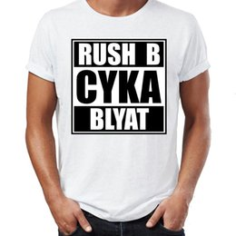 Wholesale cyka blyat resale online - Men s Russian Gamer Cyka Blyat Rush B Cs Go Funny Artsy Mens Hip Hop Streetwear new t shirt Arrival Male Clothes