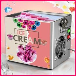 Thai Karıştırması Kızartma Dondurma Araçları Rulo Makinesi Mutfak Elektrikli Küçük Kızarmış Yoğurt Taşınabilir Mini Kiti