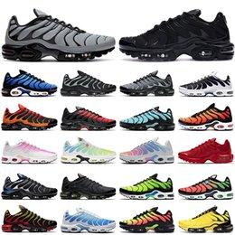 2021 tn air max plus artı erkek kadın koşu ayakkabıları eğitmenler üçlü siyah beyaz Hiper Mavi Oreo Krater Duman Gri Pimento erkekler Açık Spor Sneakers