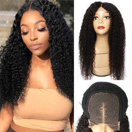 Venta al por mayor de Kissyair 4x4 13x4 encaje peluca frontal jerry rizado virgen remy cabello humano atado a mano 14-28 pulgadas pelucas afroamericanas