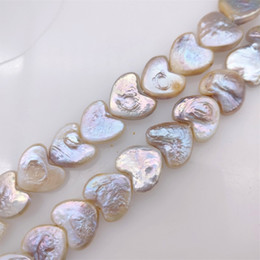 100% natural freshwater pearl Heart-shaped Baroque pearl for women diy earrings racelet necklace fashion jewlery Christmas gift 238 Q2 on Sale