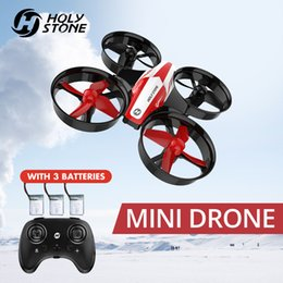 Wholesale Holy Stone HS210 Mini RC Drone Toy Headless Drones Mini RC Quadrocopter Quadcopter Dron One Key Land Auto Hovering Helicopter 210325