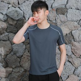 Wholesale cycling jerseys soccer for sale - Group buy Grey Men s Sports T shirt soccer jerseys outdoor quick drying short sleeved fitness clothing cycling vest