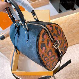 Speedy Bandouliere 25 Boston Taschen Bold Leopard Print Padlock Caramel Geprägte Kreuzkörper Wild in Herz Designer Womens Handtaschen Geldbörsen im Angebot