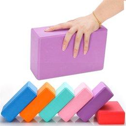 Wholesale US STOCK 3 Days Delivery EVA Yoga Blocks Bricks Density Foaming Foam Home Exercise Fitness Health Gym Stretching Shaping Training 5 X2