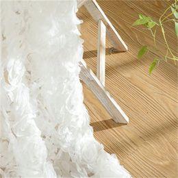 Princesa coreana estilo blanco Rose ventana cortinas apagones para la sala de estar chicas sala de ropa de cama cotinas para sala decorativo 327 R2 en venta