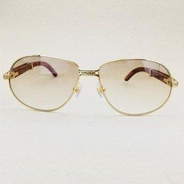 70%OFF Oversized Mens Vintage Clear Men Luxury Designer Carter Wood Glass Brand Frame Sunglasses Juxco