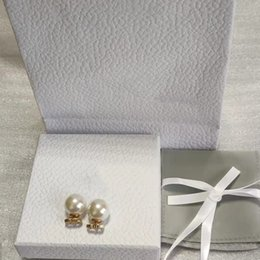 Wholesale Top Quality Pearl Earrings Simple Trend Earring Forwoman Brass Material 925 Silver Needle Supply Wholesale Fashion Jewelry