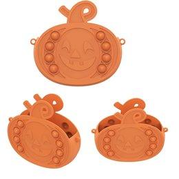Опт Тыква сумочка Hivet Toys Halloween Push Bubble Squeeze силиконовый антистресс стресс подарок для детей для детей взрослый FY2964