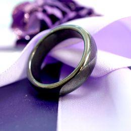 Гематитовые кольца для женщин Мужчины Черно-гематит Каменное кольцо Кольцо тревоги Корень Coot Chakra поглощает отрицательные кольца энергии Ювелирные изделия подарки на Распродаже