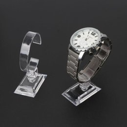 clear acrylic watches 2021 - 1Pc Clear Acrylic Bracelet Watch Display Holder Stand Rack Retail Shop Showcase 45BC Jewelry Pouches, Bags