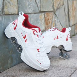 High-quality adult transformable skates unisex couples couples four-wheel racing skates on Sale