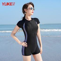 Wholesale swimsuit covers belly resale online - One piece Conservative Student Belly Covered and Thin Korean Ins Net Red Women s Swimsuit