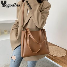 bucket bags designer NZ - Vintage Women Handbag Designers Luxury Pu Leather Bucket Ladies Shoulder Bags Female Large Capacity Crossbody Bag Fashion Brand