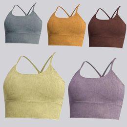 Designer tankar Lulu kvinnor Camisole Shaping Bra Lu Suspenders Underkläder Kvinnors Tank Snabbtorkande Camisoles Fitness Sport Running Topps Sexiga Inga Fälgar