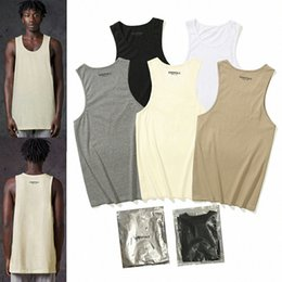 fear of god fog essentials vest off Men's T short Tank Tops sleeveless Stylish mesh fabric breathable logo print sport shorts 02 O3ZV#