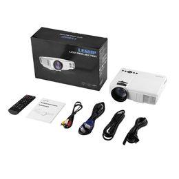 Q5 LED-projektor 800 * 480 Pixel 1200LM Mini Hemmabiovideo Projektor Hemmabio TV Bärbara datorer Smartphones