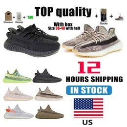 Warehouse In US 2021 Men Women Running Shoes 3M Cinder Zebra Tail Light Reflective Static Cream White Sports Shoes Size 36-46 With Half Box