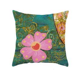 Cuscino arte pittura creativo cassa creativa per bambini pittura a olio albero stile cartone animato stile cartone animato divano cuscino vita cuscino cuscino 1359 T2 in Offerta