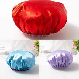 Yetişkinler Katı Renk kadın Makyaj Duş Kapağı Moda Kızlar Dantel Mayo Şapkalar Güzel Ev Güzellik Salonu Su Geçirmez Kapaklar G38XXS7