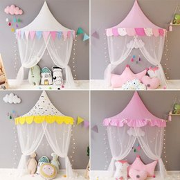 girls princess tents Australia - Baby Room Crib Netting Girls Princess Bed Canopy Mosquito Net Kids Bedroom Decor Dome Hanging Tent Teepees Play House Home Decor