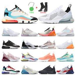 Toptan satış 270  Orta Kısaltma koşu ayakkabıları mens kadın eğitmenler Rahat nefes spor ayakkabı kapalı boyutu 5.5-11