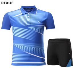 couple costume de sport achat en gros de-news_sitemap_home2020 Jersey de tennis Badminton Sports Polo Chemise Femmes Hommes Tenis de Mujer Couple Table Tennis Suit Qucik Dry Badminton Ensembles