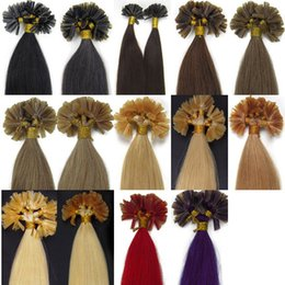 High Quality 12-26 pcs u tip Brazilian 100% real Human straight Hair Extensions