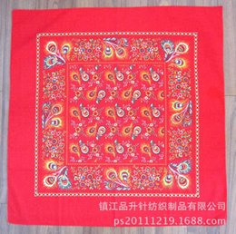 large square cotton scarves UK - Scarf Production of Paisley printed large square