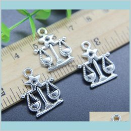 Discount libra jewelry 100Pcs Libra Constellation Alloy Charms Pendant Retro Jewelry Making Diy Keychain Ancient Silver Pendant For Bracelet Earrings 22*17Mm D6Zip
