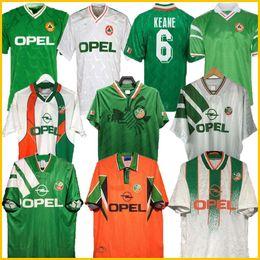 Toptan satış 1992 93 İrlanda Retro Futbol Forması 1990 Home Classic Jersey Vintage İrlanda Sheily 1994 1995 1996 Futbol Araçları Gömlek 1998 McGrath Keane 96 98 Houghton Aldridge