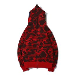 Wholesale cardigans for men resale online - Men s Hoodies Shark Pattern O Neck Long Sleeve Sweatshirts Cotton Natural Color Hip Hop Men S Clothing Perfect for Jeans and Shorts