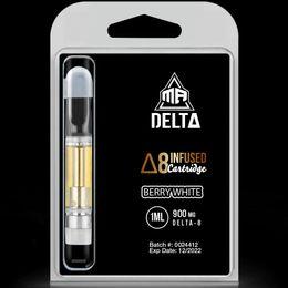Ship from Miami 1000mg dosage Filled Delta 8 Vape Cartridges 1ml MR Delta Brand