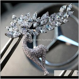 Copper Zircon Elk High Grade Crystal Christmas Pin Ornament X972 It Have 2 Dn0Qy China Souvenir Lcoii on Sale