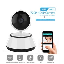 Wholesale V380 Baby Monitor Phone APP HD 720P Mini IP Wifi Cameras Wireless P2P Security Camera Night Vision IR Robot Support 64G