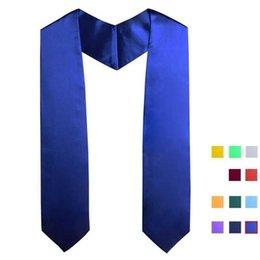 Опт Взрослый сублимационная термопортная печать пустой выпускной шарф термический передача белый честь шали этикет ленты бакалавриат платок женские H31EBTC