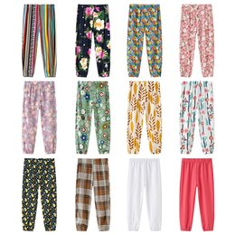 Wholesale Girls Mosquito Pants Boys Plaid Pants New Summer Baby Fashion Printed Thin Casual Pants Bloomers 662 Y2