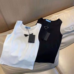 Carri armati delle donne Camis Tees Gilet con la lettera Budge Lady Slim Outwears Simils Syney Tank Gilet Shirt Tops in Offerta