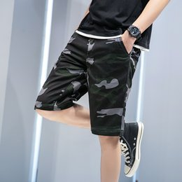 cotton trucks UK - Fashion Military Cargo Shorts Mens 2021 Summer Camouflage Tactical Shorts Men Cotton Work Truck New Casual Male Short Pants Q0320
