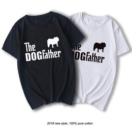 Wholesale english bulldogs resale online - RAEEK Brand Clothing THE DOGFATHER English Bulldog Dog Funny T Shirt Tshirt Men Cotton Short Sleeve T shirt Top CamisetaChina live network r