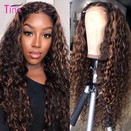 1B/Blonde Ombre Short Kinky Curly Simulation Human Hair Wigs Pre Plucked Blonde Synthetic Lace Front Bob Wig Heat Resistant
